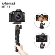 Ulanzi MT-11 유연한 문어 삼각대 스마트 폰 DSLR SLR Vlog 삼각대 여행 휴대용 2 1 삼각대 확장 1/4 나사 매직 팔