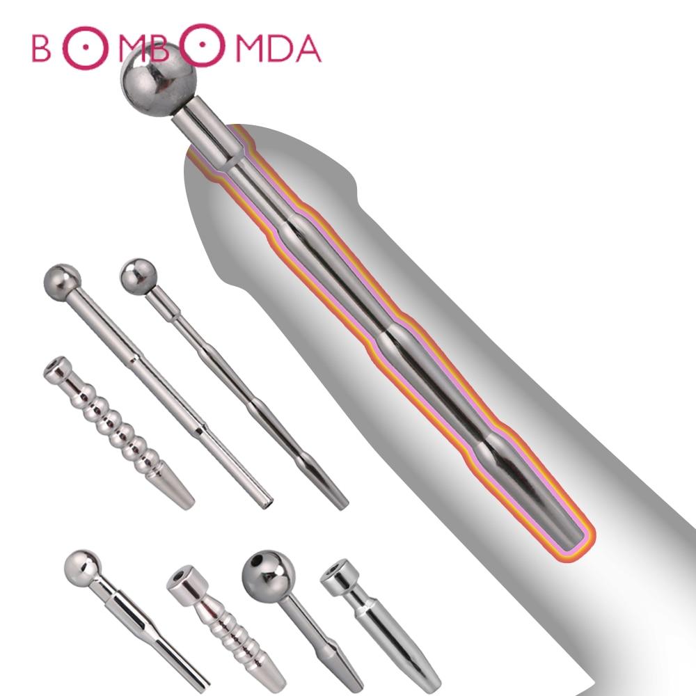 Metal Men Penis Plug Adult Sex Toys Urethral Catheter Penis Male Urethral Dilator Urethral Sounding Sex Toy Man Chastity Device