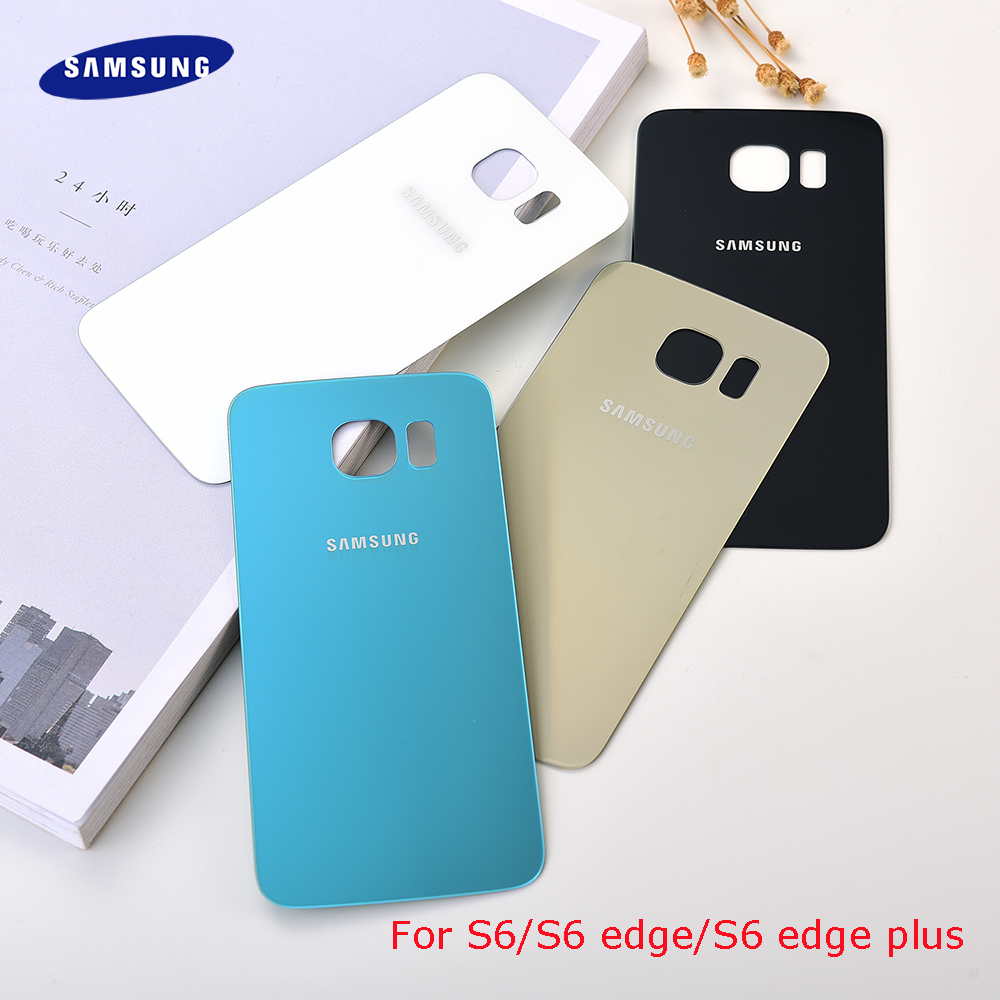 Samsung S6edge New Back Rear Battery Cover Glass Door For Samsung S6 edge plus G920F G925F G928F Housing Back Battery Cover Case image