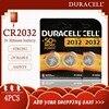 4PCS Originale per CR2032 DURACELL Batteria Delle Cellule del Tasto 3V Batterie Al Litio per Orologi Giocattoli Calcolatrice Del Computer di Controllo di DL/CR 2032