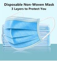 50 قطعة عالية الجودة منع مكافحة PM 2.5 البكتيريا برهان قناع الوجه محبوكة تنفس واحدة استخدام الفم الغبار أقنعة الوجه-في قناع الوجه للدراجات من الرياضة والترفيه على