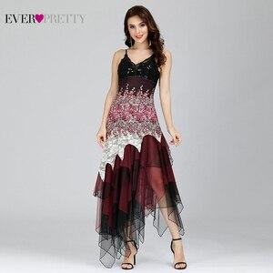 Image 3 - Seksowna sukienka koktajlowa damska długa Spaghetti dekolt w serek czarna biała koronkowa imperium kiedykolwiek ładna EP6212B musujące sukienki koktajlowe w rozmiarze Plus