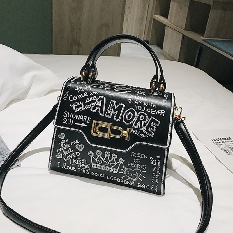 2019 Printing Crossbody Bags For Women Luxury Handbags Designer Famous Brand Bolsa Feminina Shoulder Bag Ladies Sac Main Leather