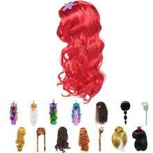 Красный парик Русалочки для девочек; Детские длинные волосы