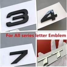OEM эмблема значок письмо автомобильные наклейки для Audi S3 S4 S5 S6 S7 S8 RS3 RS4 RS5 RS6 RS7 RS8 SQ3 SQ5 SQ7 RSQ3 RSQ5 RSQ7 TT TTS TTRS