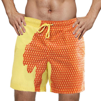 2020 Summer Mens Adult Kids swimming shorts Temperature-Sensitive Color-Changing Beach Short Pants Swim Trunks Shorts swimwear