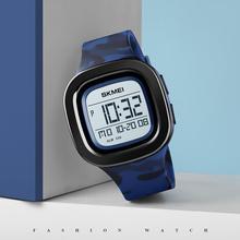 Marka SKMEI moda cyfrowy zegarek sportowy męskie zegarki Chrono Alarm wodoodporny zegar WristwatchSquare LED relogio masculino