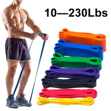 Unisex Fitness 208cm gumowe taśmy oporowe pasek do jogi Pilates pętla elastyczna Crossfit Expander wytrzymałość wyposażenie do ćwiczeń