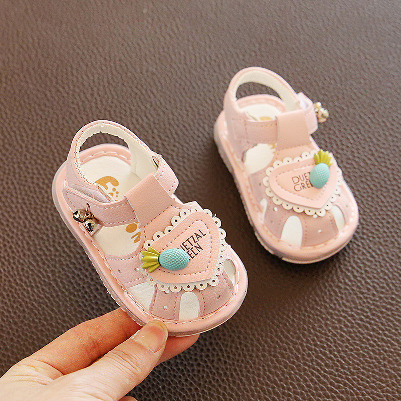 2020 New Infant Baby Girls Summer Clogs Soft Sole Newborn Baby First Walkers Baby Girls Crib Shoes