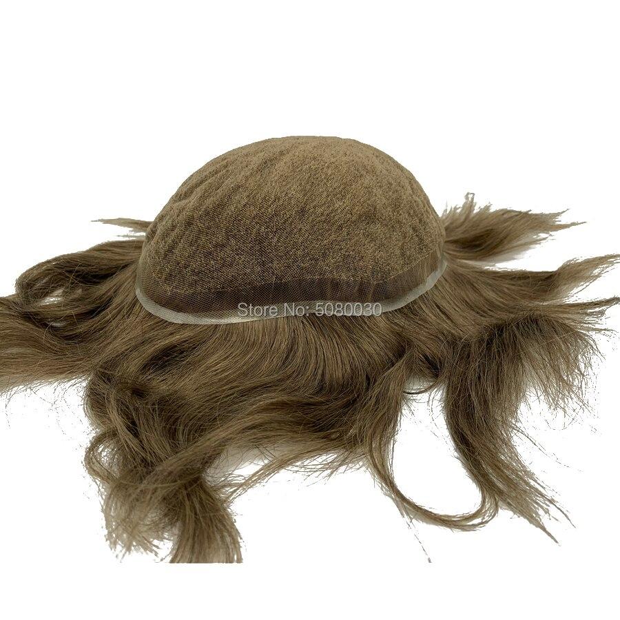Wholesale 100% Human Handmade Hair Full Swiss Lace Wave Men Toupee