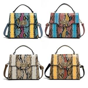 Image 2 - FUNMARDI VINTAGE Serpentineไหล่กระเป๋าล็อคFLAPกระเป๋าความคมชัดสีผู้หญิงกระเป๋างูRetro Crossbodyกระเป๋าWLHB2031