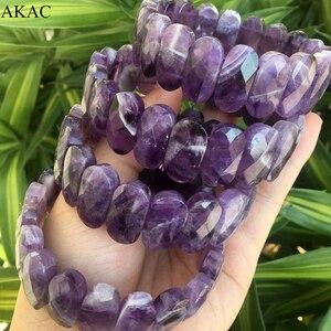 Image 1 - Genuine amethyst bangle amethyst faceted bracelet women bracelet