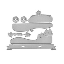 GJCrafts Tree Dies House Metal Cutting New 2019 for Card Making Scrapbooking Embossing Stencil Scenery