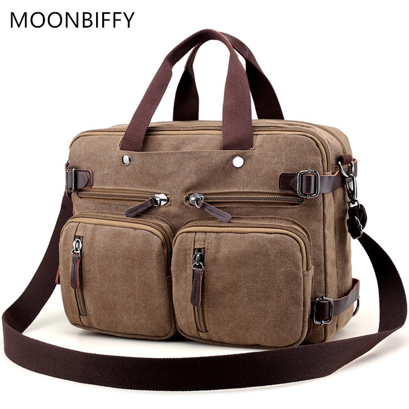 Men Canvas Briefcase Business Laptop Handbag Large Messenger Shoulder Bag Big Casual Male Tote Back Bags Travel Suitcase WH4500