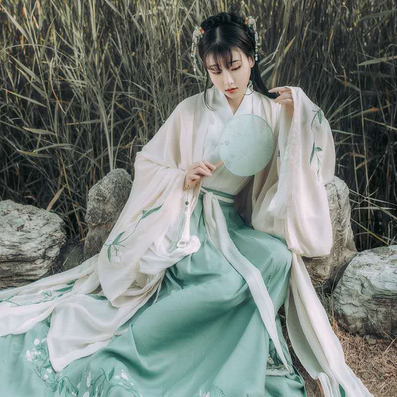 Hanfu Women Chinese Dance Han Nationality\'S Costumes Ancient Hanfu Chinese Traditional Dress Stage Fairy Performance Costume