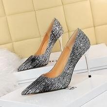 Туфли лодочки bigtree женские высокий каблук шпилька Классическая