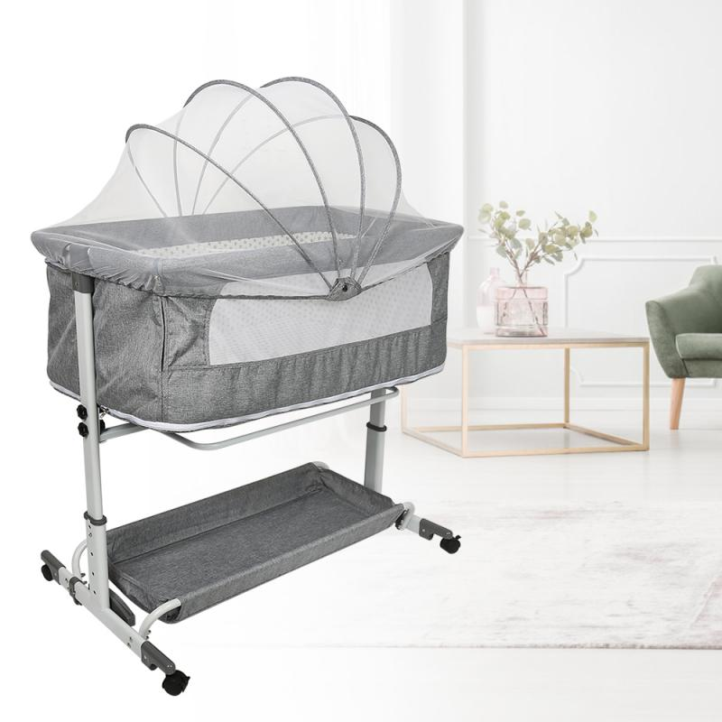 Baby Crib Cradle Newborn Movable Portable Nest Crib Baby Travel Bed Game Bed With Mosquito Net Sleeping Bed Baby Rocking Bed HWC