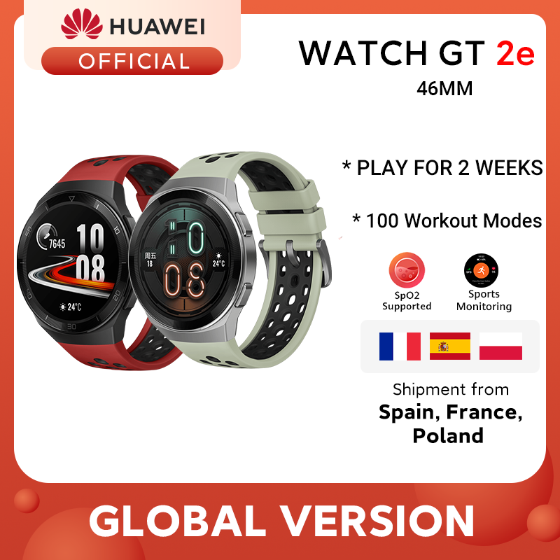 Global Version HUAWEI Watch GT 2e Smart Watch 1 39   AMOLED Screen Blood Oxygen 14 Days Life 5ATM Waterproof Heart Rate Tracker
