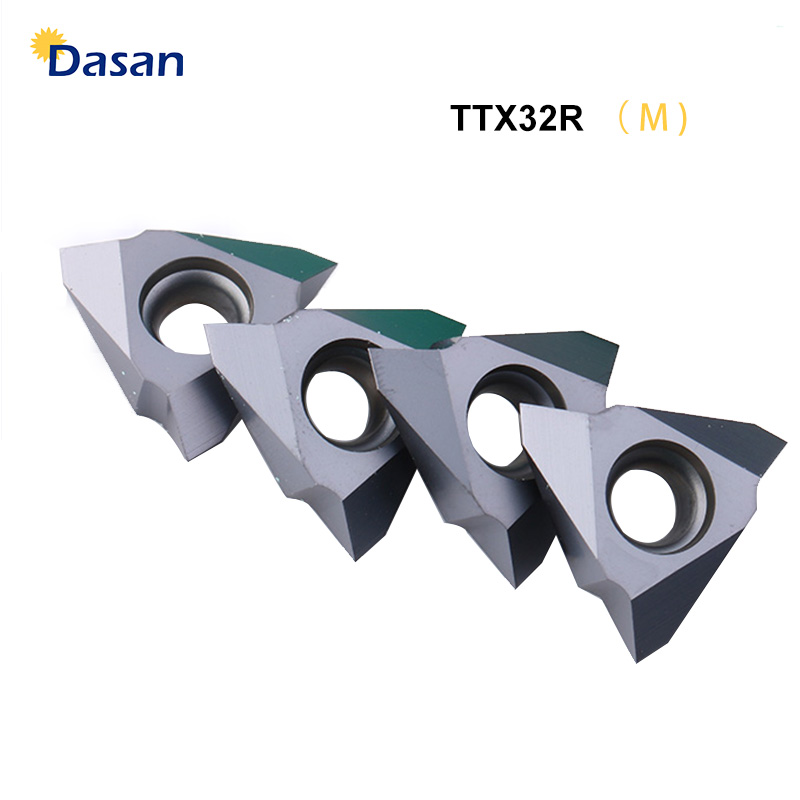 10PCS TTX32R 6001 60005 5501 Carbide V Inserts CNC Lathe Tools Threading Blade Tools For Stainless Steel