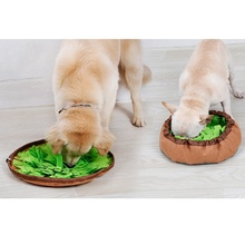 Pet войлочная ткань для протекания еды анти-удушье миска коврик для собак кошек табак коврик для экономии энергии Замедление Кормления Интеллектуальный коврик