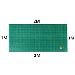 1M × 2M almohadilla de corte de PVC de doble cara auto-curación Placa de Patchwork Mat artista DIY herramienta de escultura Manual de talla casera Tabla de escala
