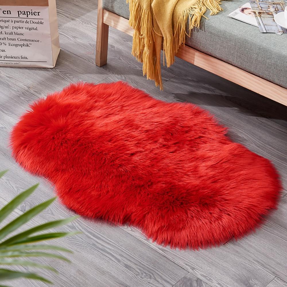 tapis fausse fourrure peaux naturel