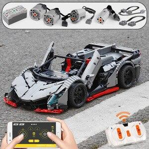Image 3 - 3427 Chiếc Mộc RC Technic Xe Ô Tô Các Veneno Roadster Điện Chức Năng Mô Hình Xe Khối Xây Gạch Trẻ Em Tự Làm Đồ Chơi Giáng Sinh quà Tặng