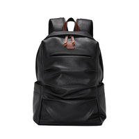 New Laptop Backpack Men PU Leather Male Bag Fashion Casual Luxury Designer Large Capacity Travel Backpack Men School Bag 2019