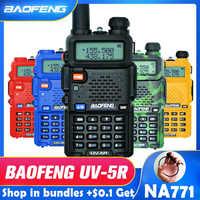 Baofeng UV-5R Walkie Talkie Professionale CB Stazione Radio Baofeng UV5R Ricetrasmettitore 5W VHF UHF Portatile UV 5R Caccia Prosciutto radio