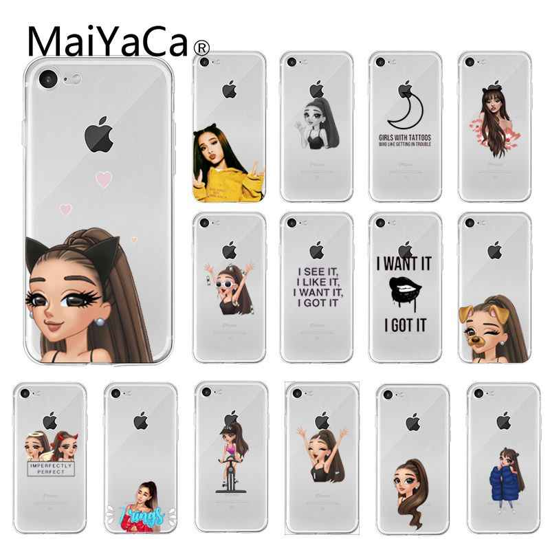 MaiYaCa 7 แหวนสาว Ariana Grande TPU Soft Case สำหรับ iPhone 5 5Sx 6 7 7plus 8 8Plus X XS MAX XR Fundas Capa