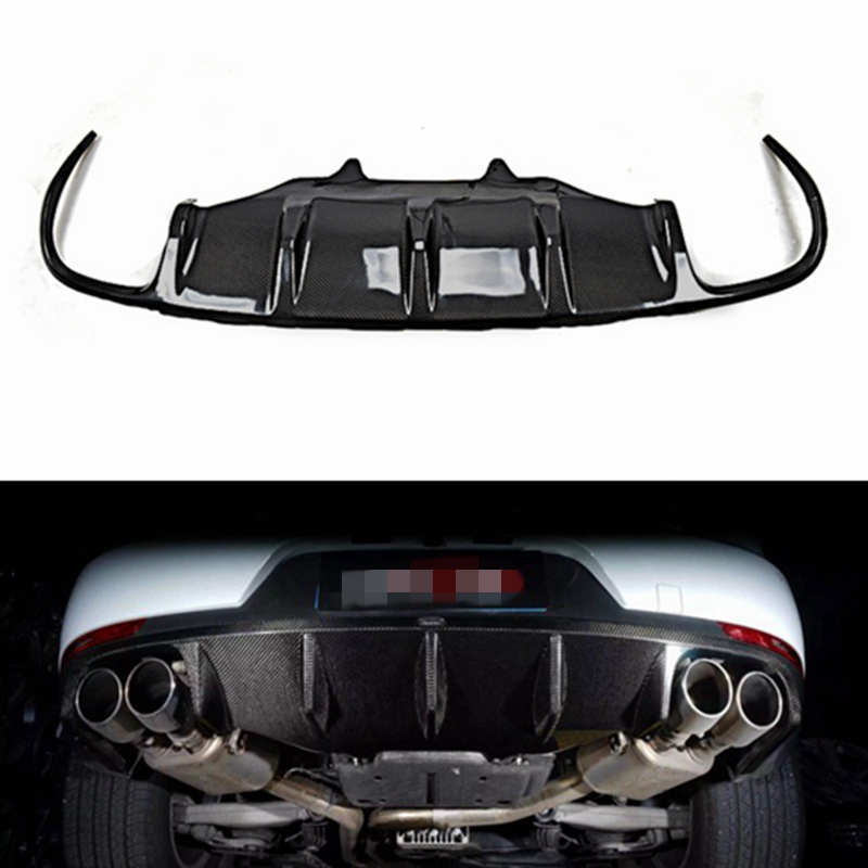 Rear Bumper Diffuser Lip Spoiler Carbon Fiber Bodykit Fit for Porsche Macan 2015