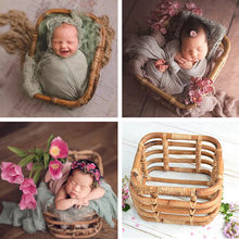 Photography props Newborn Photography Accessories Handmade Retro Woven Basket Fotografie Studio Baby Props for Photography Shoot(China)