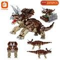 Строительные блоки Forange Creator, динозавр Юрского периода, животное, парк мира, Трицератопс, динозавр, кирпичи, игрушки, подарок на день рождения...