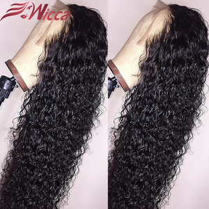Wicca 13х6 180 плотность кружева спереди медовый блонд вьющиеся человеческие волосы парики предварительно отобранные бразильские Реми для женщ...