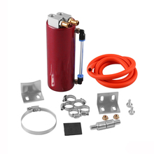 Universal 350ml Aluminum Racing Oil Catch Tank Can Round Can Reservoir Turbo Oil Catch Can Fuel Catch Tank chrome aluminum double hole 19mm oil catch tank racing oil can catch tank can oil catch tank oil catch can