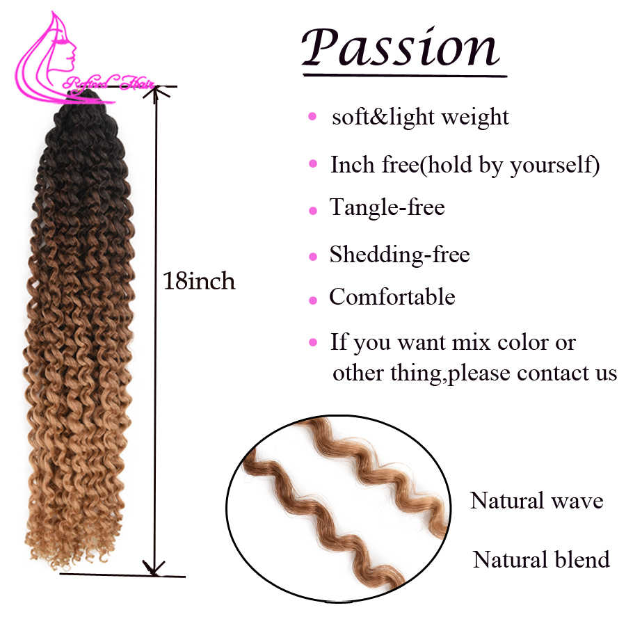 Весна страсть твист 18 дюймов длинные черные коричневые Омбре плетение волос крючком косы синтетические вьющиеся волосы для косы 22 пряди/шт