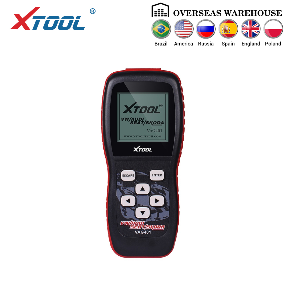 XTOOL VAG401 Professional Code Reader Scanner OBD2 Auto Diagnostic Tool For AUDI/SEAT/SKODA/VW VAG401 Automobiles Scanner