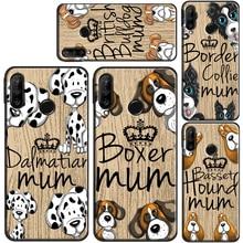 Sprocker Chow Boxer Pug Mum Dog TPU Case For Huawei P20 P10 P30 Lite P40 Pro P Smart