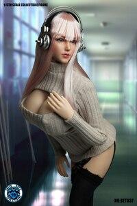 Image 2 - 1/6 בקנה מידה ילדה ראש לפסל סקסי קוספליי בגדי סט SET037 עבור 12 סנטימטרים נשי TBLeague גדול שד גוף פעולה איור
