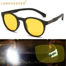Yellow Sunglasses Night-Vision Driving Round Unisex Men Oculos Gafas-De-Sol Ultralight
