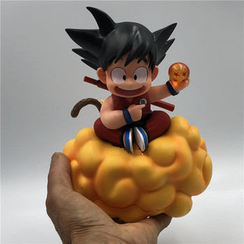 18cm Dragon Ball Z Kids Son Goku on somersault clouds PVC Action Figure Model Collection Toy shf s h figuarts dragon ball z kid child son goku gokou pvc action figure collectible model toy