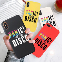 GYKZ Fashion Panic at the Disco Phone Cases For iPhone XS MAX X XR 7 8 6 6s Plus Letter Print Soft Back Cover Matte Coque Fundas