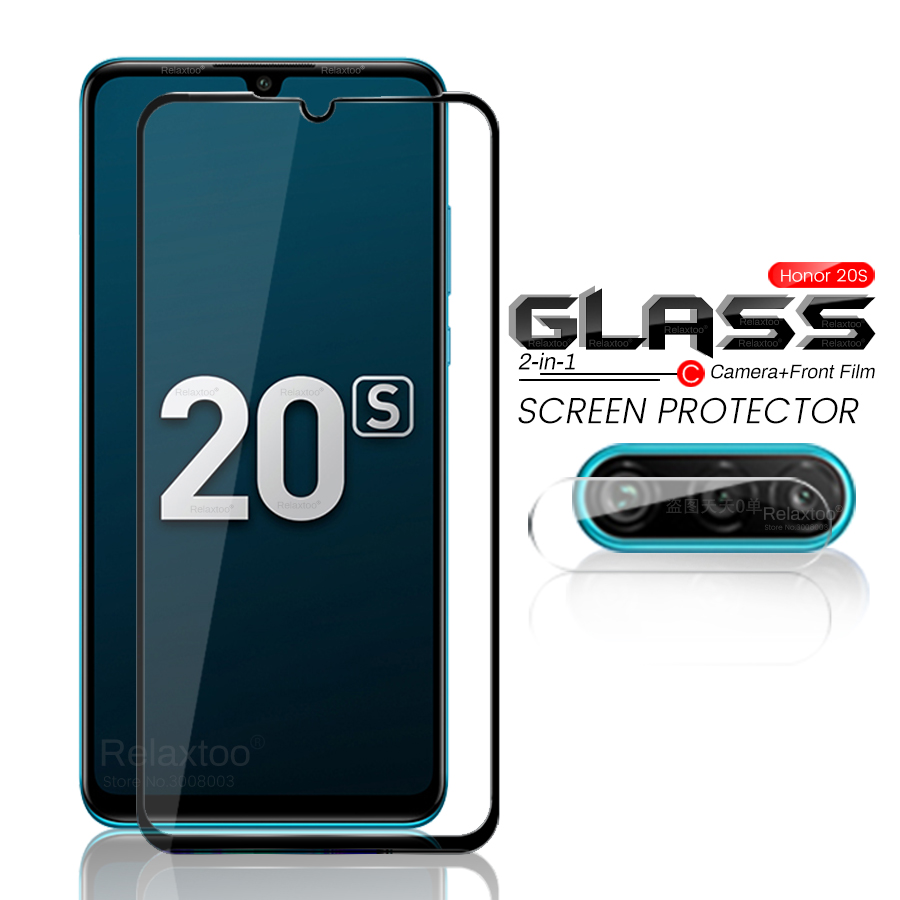 2-in-1 Honor 20s Glass Protective Glass On Honor 20s 20 S Camera Glas Honor20s Global Endition Mar-lx1h Armor Safety Film 6.15''