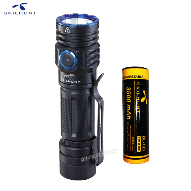 SKILHUNT LED Flashlight Edc-Edition Magnetic XHP35 Rechargeable Lumens High-Power 2000