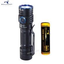 새로운 SKILHUNT M300 XHP35 높은 전력 2000 루멘 EDC 버전 USB 자기 충전식 방수 LED 손전등