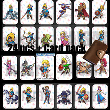 24PCS NTAG215 Game NFC Cards New 4 Hero Data Tag 20 heart Wolf Link For NFC Tag Zelda Breath Of The wild NS Switch 50piecess ntag215 nfc forum type 2 tag for all nfc mobile phone nfc card can written by tagmo works with switch