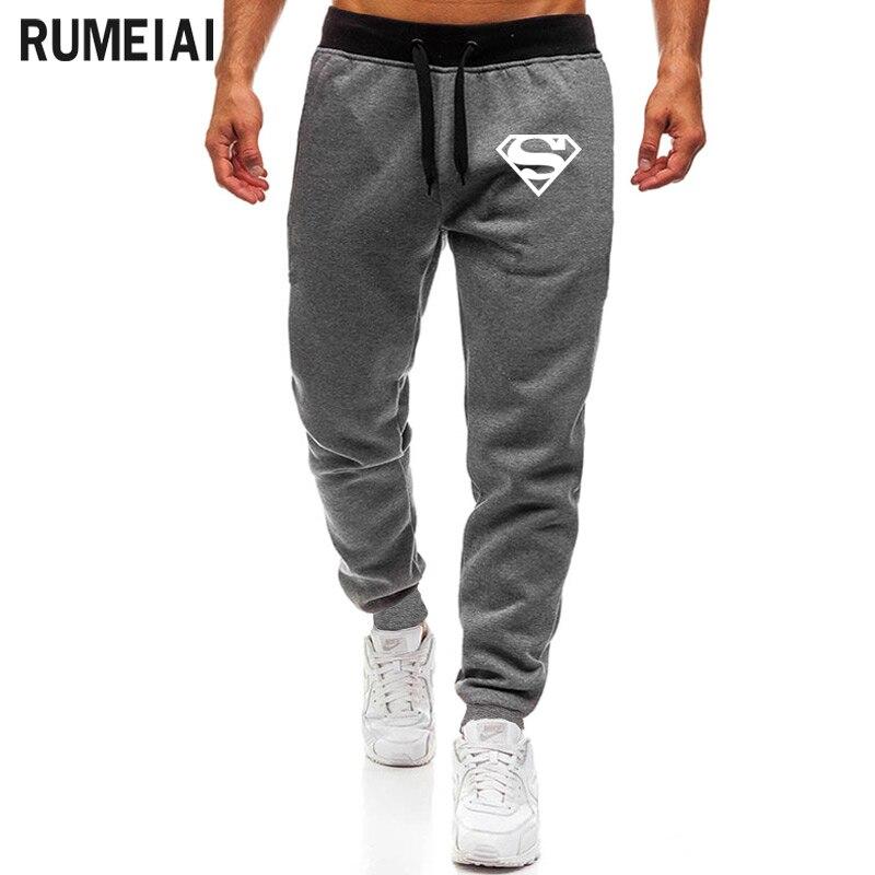 2020 New Fashion Superman Print Pants Men Casual Trouser Jogger Bodybuilding Fitness Sweat Time Limited Sweatpants