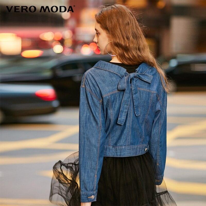 Vero Moda 2019 New Arrivals Women's Lace-up Short Denim Jacket  | 319157516