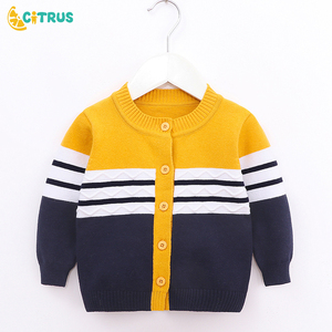 CITRUS Baby Boys Sweater Toddler Boys Autumn Sweater Long-Sleeve Cotton Cardigans Children Clothes Jumper Knitwear