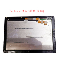 For Lenovo Miix 700 12ISK 80QL LED LCD for 12 Touch Screen Assembly 80QL0001US with frame bezel